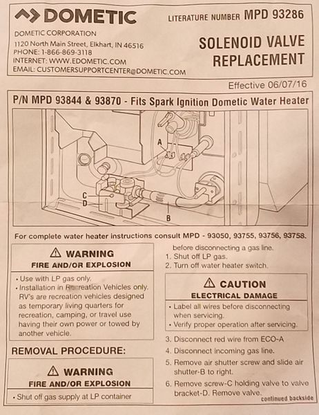 Atwood Water Heater Gas Valve 93844 Pdxrvwholesale